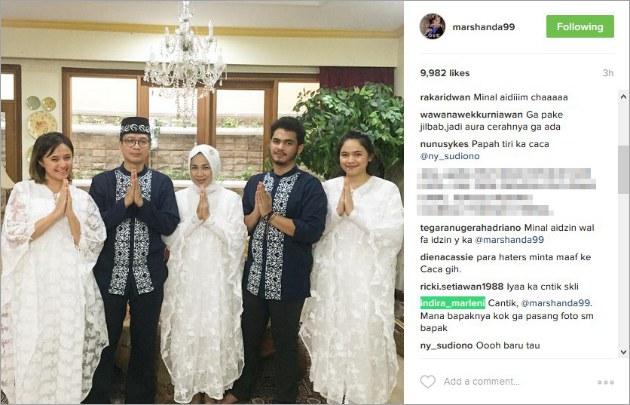 Instagram Artis Foto Idul Fitri Marshanda Dipertanyakan Netizen