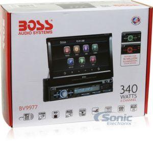 Boss BV9977 SingleDIN DVDCDMP3 Car Stereo w 7