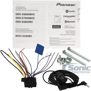 Pioneer Deh X Bhs Single Din Bluetooth In Dash Cd Am Fm