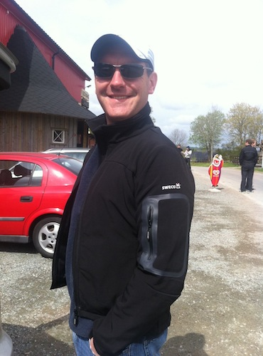 James in a SWECO Jacket