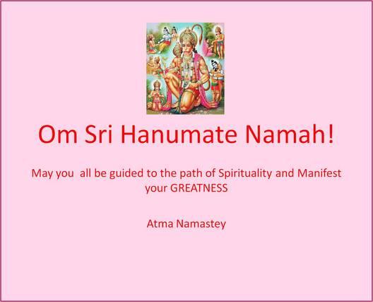 Om Sri Hanumate Namah!!!!