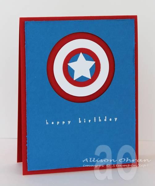 Captain America Birthday By Alliohran At Splitcoaststampers