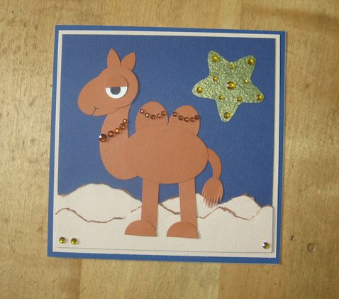 Punch Art Camel Star Of Bethleham Christmas By Carolynn