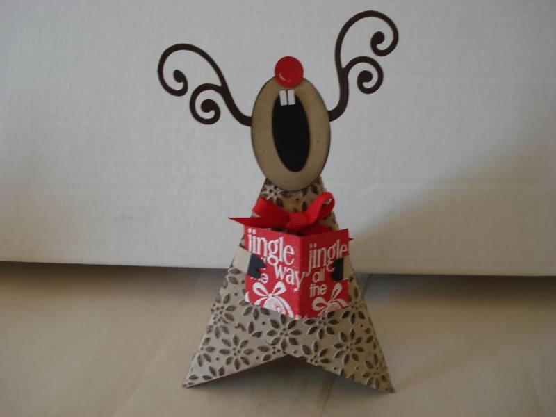 Cute Christmas Trio Singing Reindeer By LLINNYC3 At