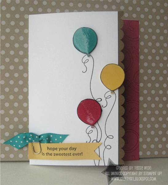 Balloons Birthday Card By Tessa At Splitcoaststampers