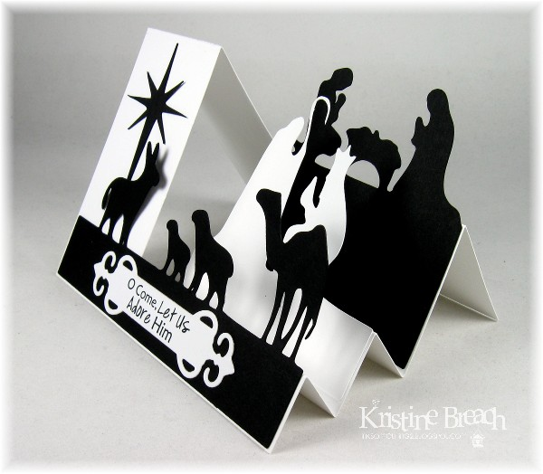 Black N White Side Step Nativity Side View By KristineB