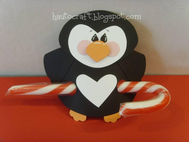 Babybluegirl Christmas Candy Cane Holder Penguin By