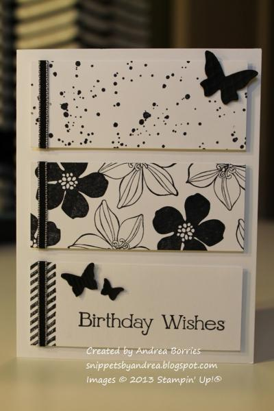 Black And White Birthday By Andib 75 At Splitcoaststampers
