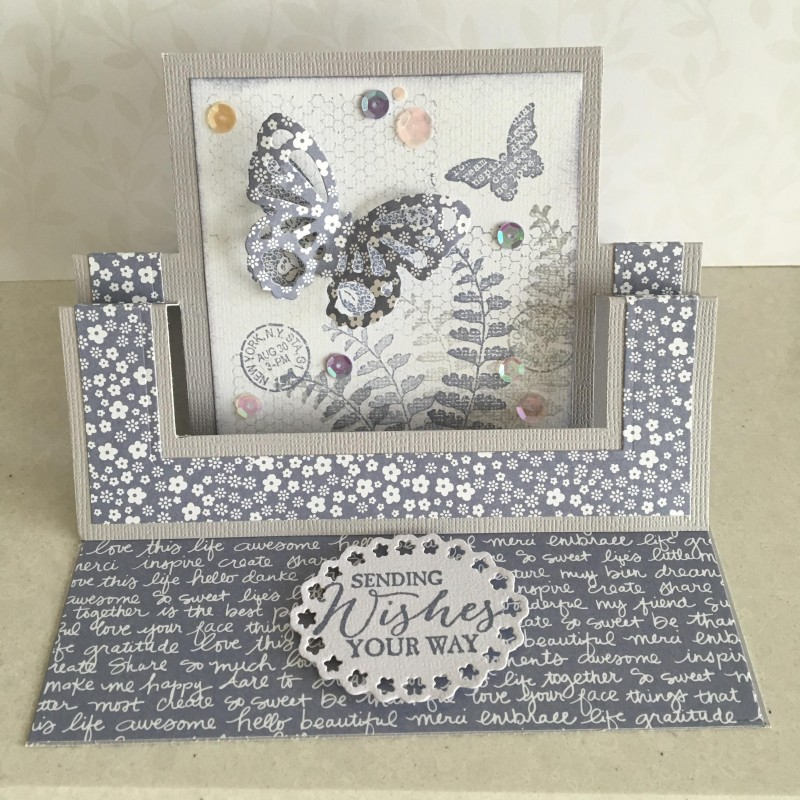 Swing Easel Card By Lesleybd At Splitcoaststampers