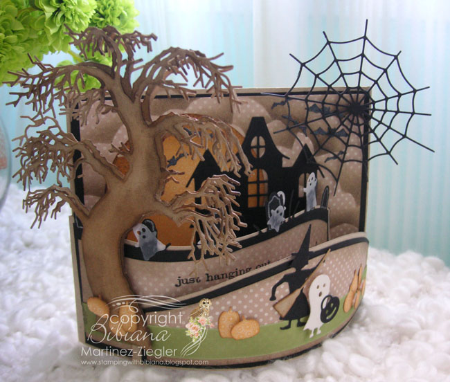 Bendi Fold For Halloween With Memory Box Dies By BMZ At