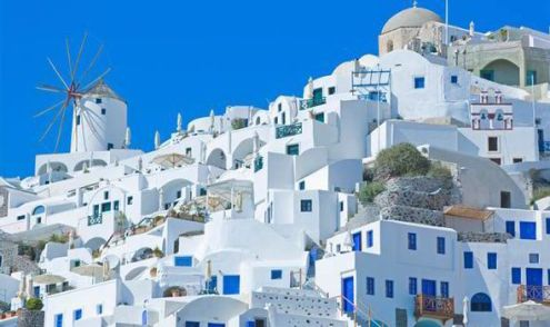 Top 10 facts about Greece   Express co uk Oia village  Santorini  Greece