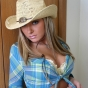 Kates perfect stunning girlfriend Stina teases with her perky boobs in a country lookin outfit