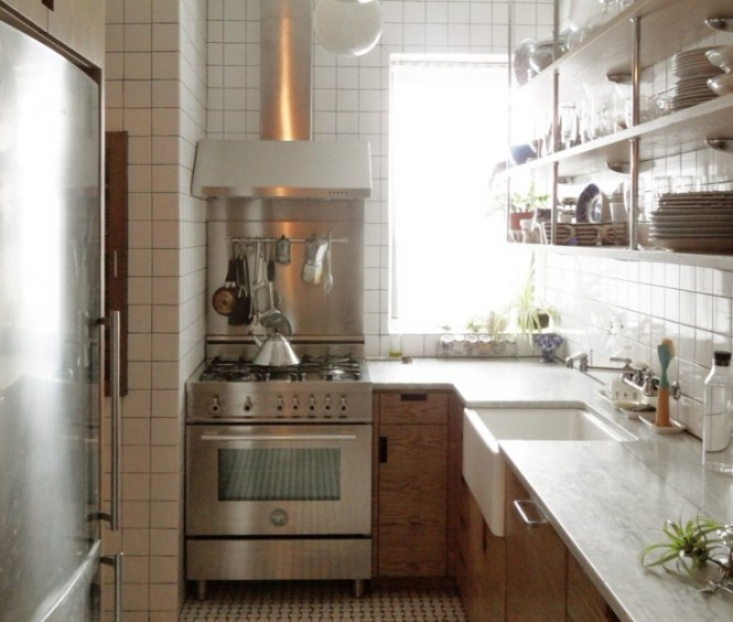 A Small New York City Apartment Kitchen