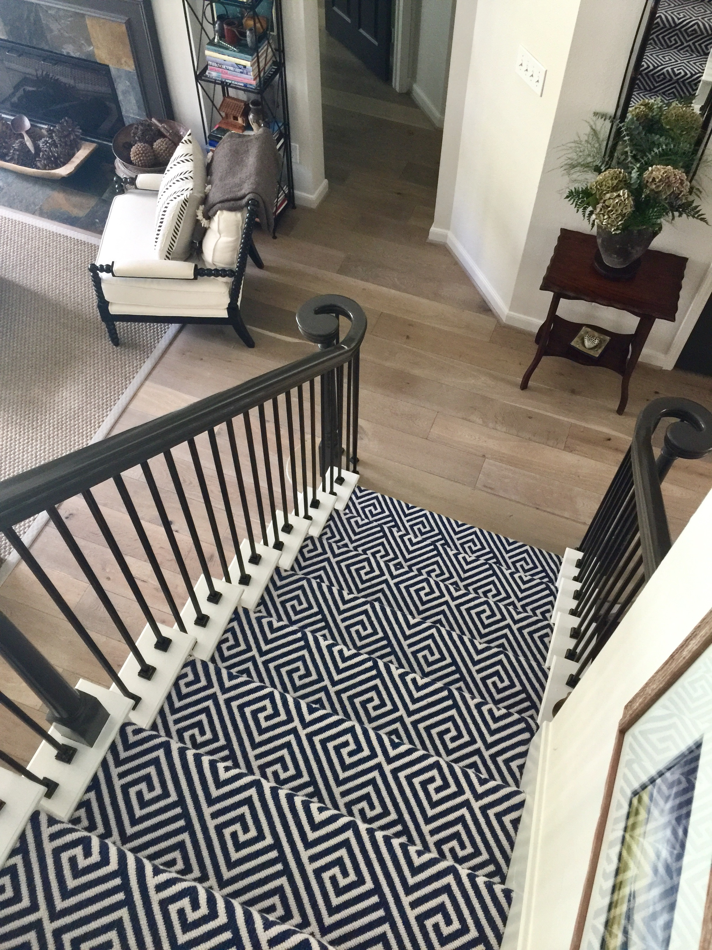 Should I Carpet My Stairs With The Same Carpet I Use Upstairs   Patterned Carpet For Stairs And Landing   Carpeting   Middle Open Concept   Diamond Uk Pattern   Striped Stair Carpet Entrance   Victorian Style