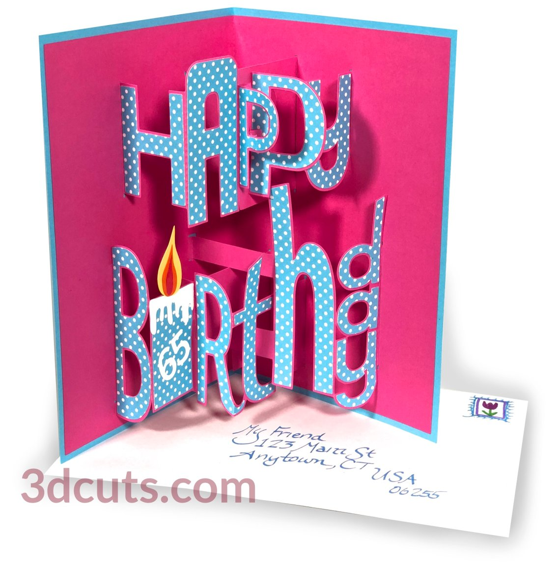 Download Happy Birthday Pop-up Whimsy Font — 3DCuts.com