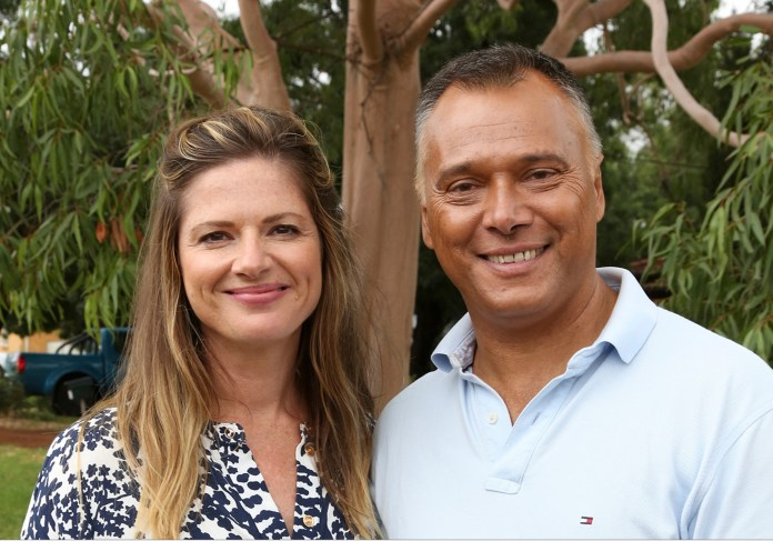 Julia with Stan Grant  image - supplied/ABCTV