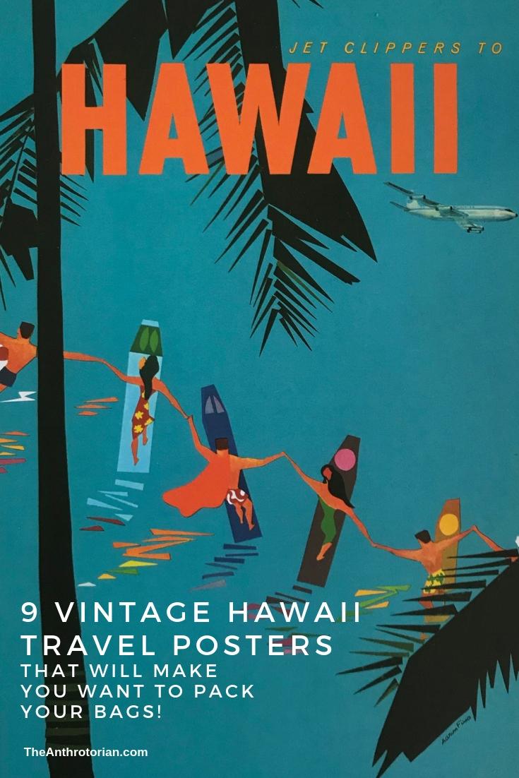 travel poster vintage pigura