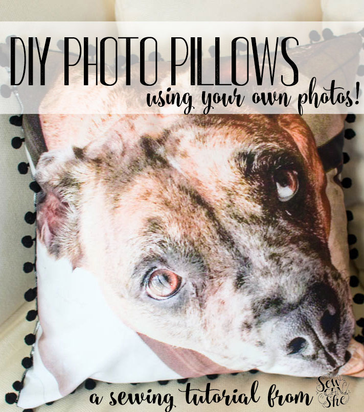 photo pillows free sewing tutorial