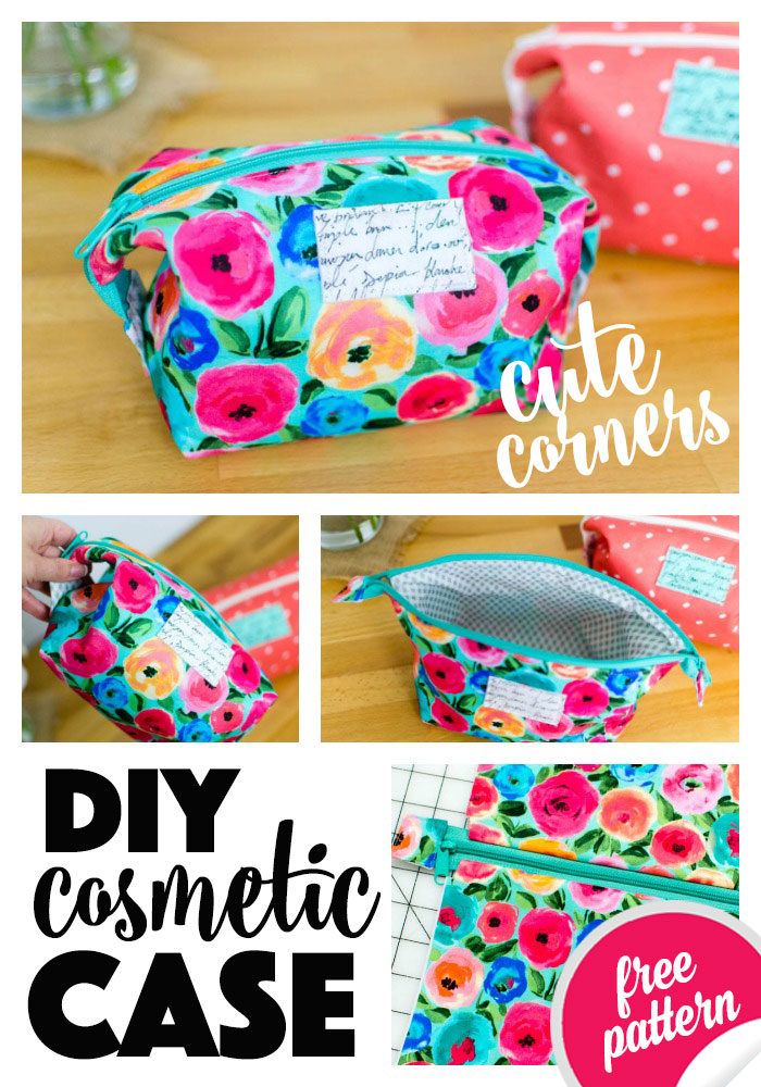 Cute Corners Diy Cosmetic Case Free