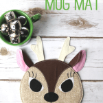 Friday Spotlight Make A Playful Reindeer Mug Rug Sewcanshe Free Sewing Patterns And Tutorials