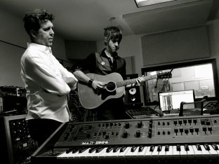 With Joe Henry, Springtime In The Heart sessions, 2019. Photo by Adam Levy