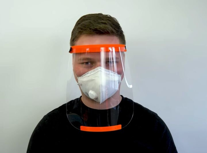 A certified DIY medical face shield made with 3D printing [Source: Prusa Research]