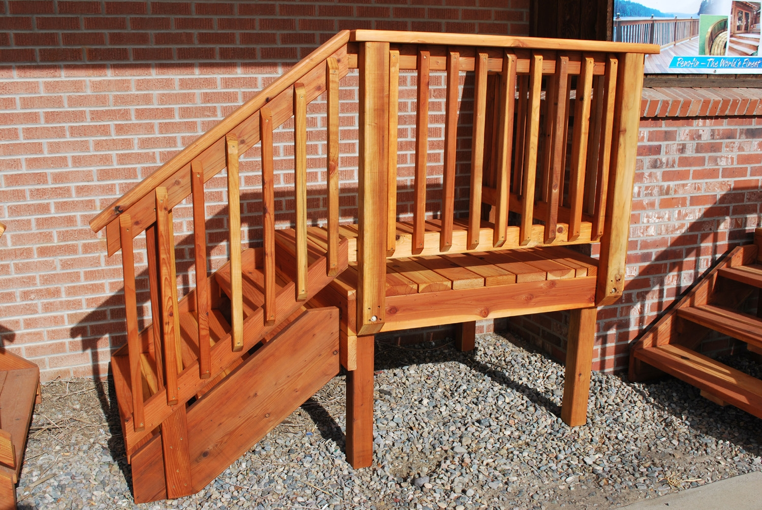 Deck Stair — The Redwood Store   Pre Built Stairs Outdoor   House   Stand Alone   Outside   Building   Cement