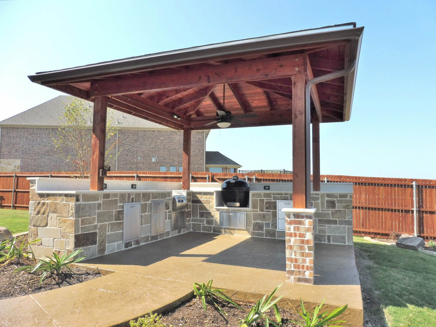 outdoor grills fire pits stone work