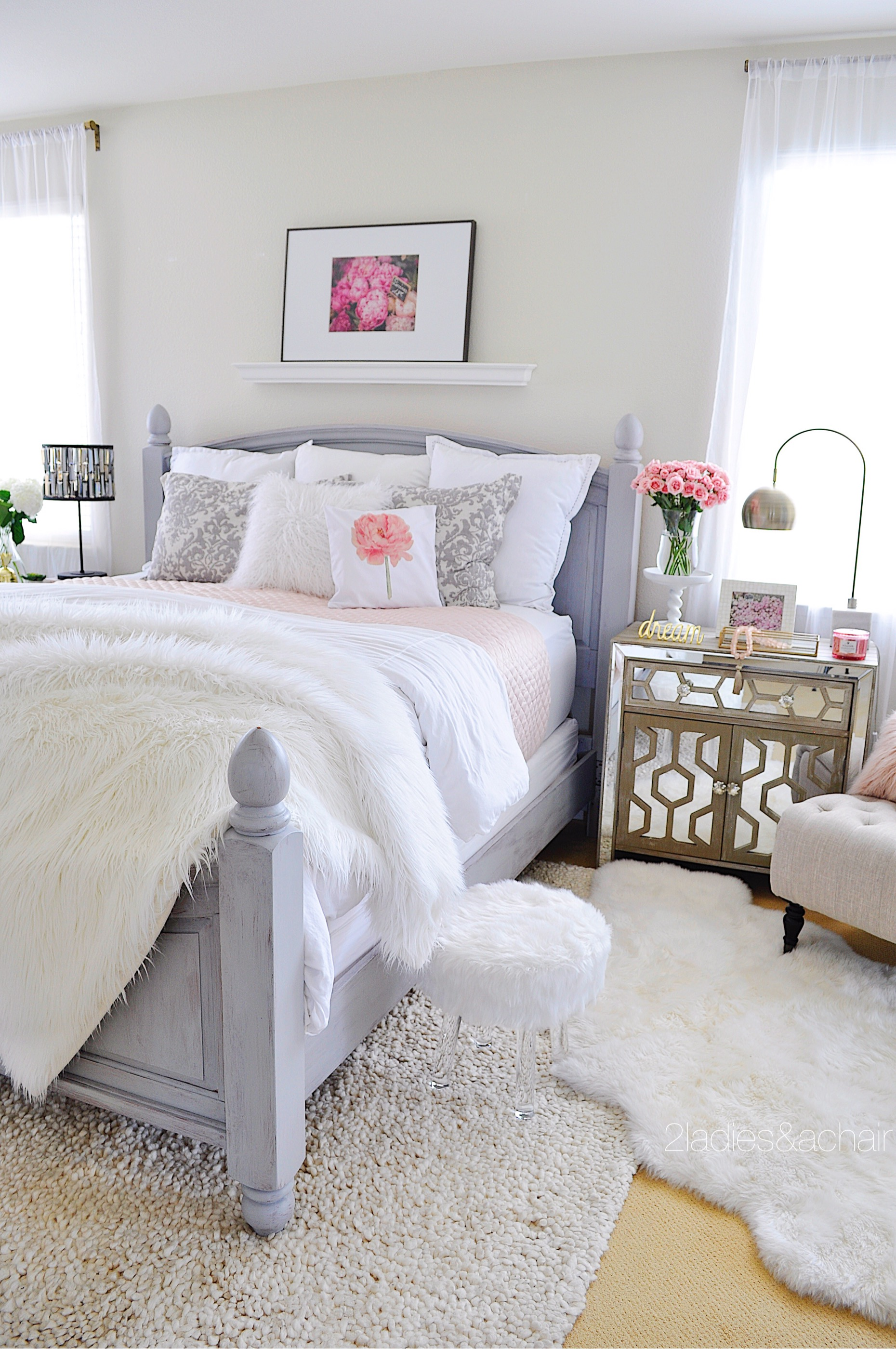 Bedroom Decorating Ideas: Before and After — 2 Ladies & A ... on Bedroom Decoration Ideas  id=31842