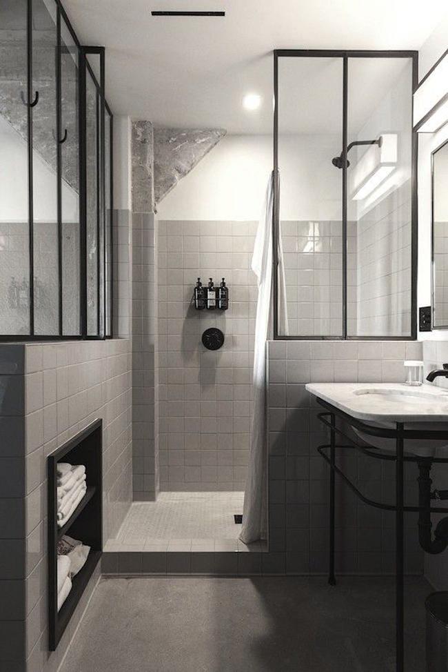 salle de bain industriel
