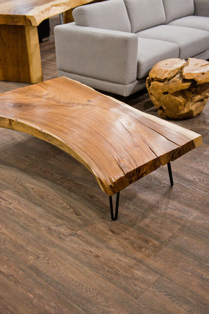 blue moon furniture authentically sculpted wood coffee occasional tables majestic live edge coffee table