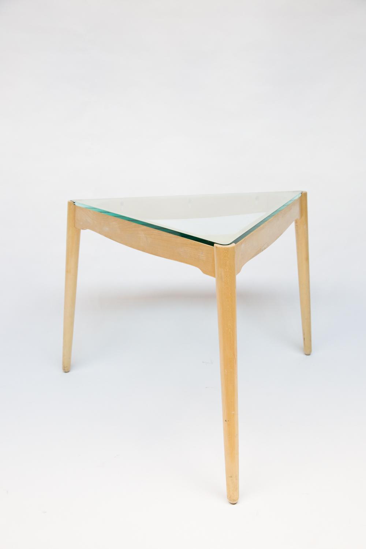 triangular coffee table with glass top redu nyc