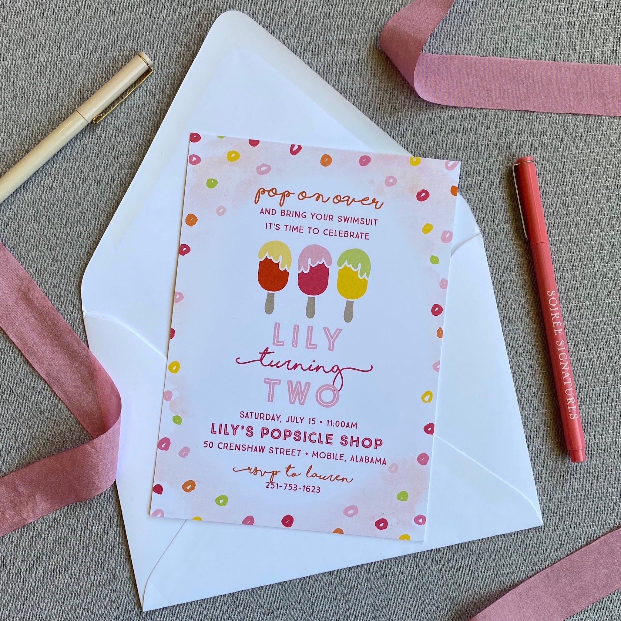 popsicle birthday invitation aj bday 7 soiree signatures