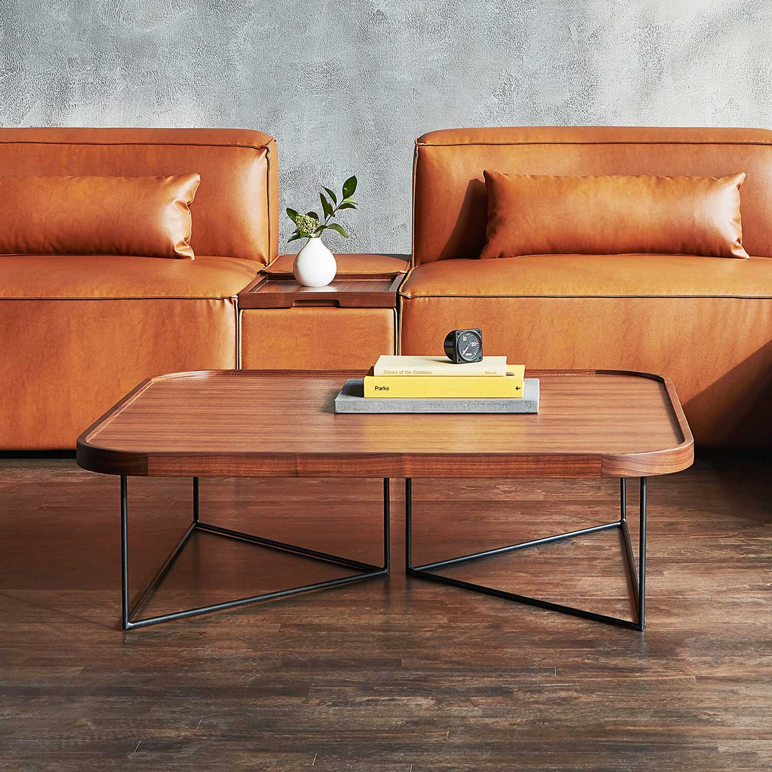 http www rohomeshop com gus accent coffee tables porter coffee table square black powdercoat ash blonde