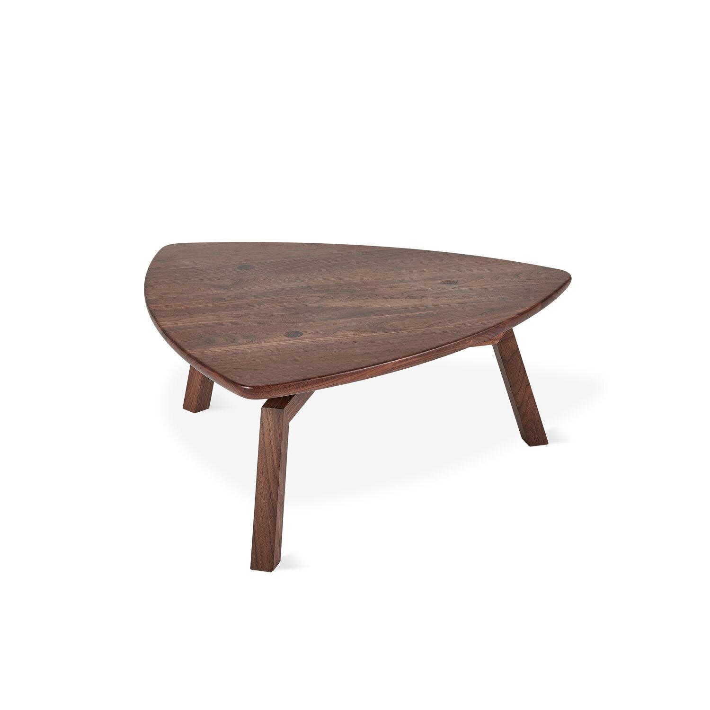solana triangular coffee table gus modern furniture ro