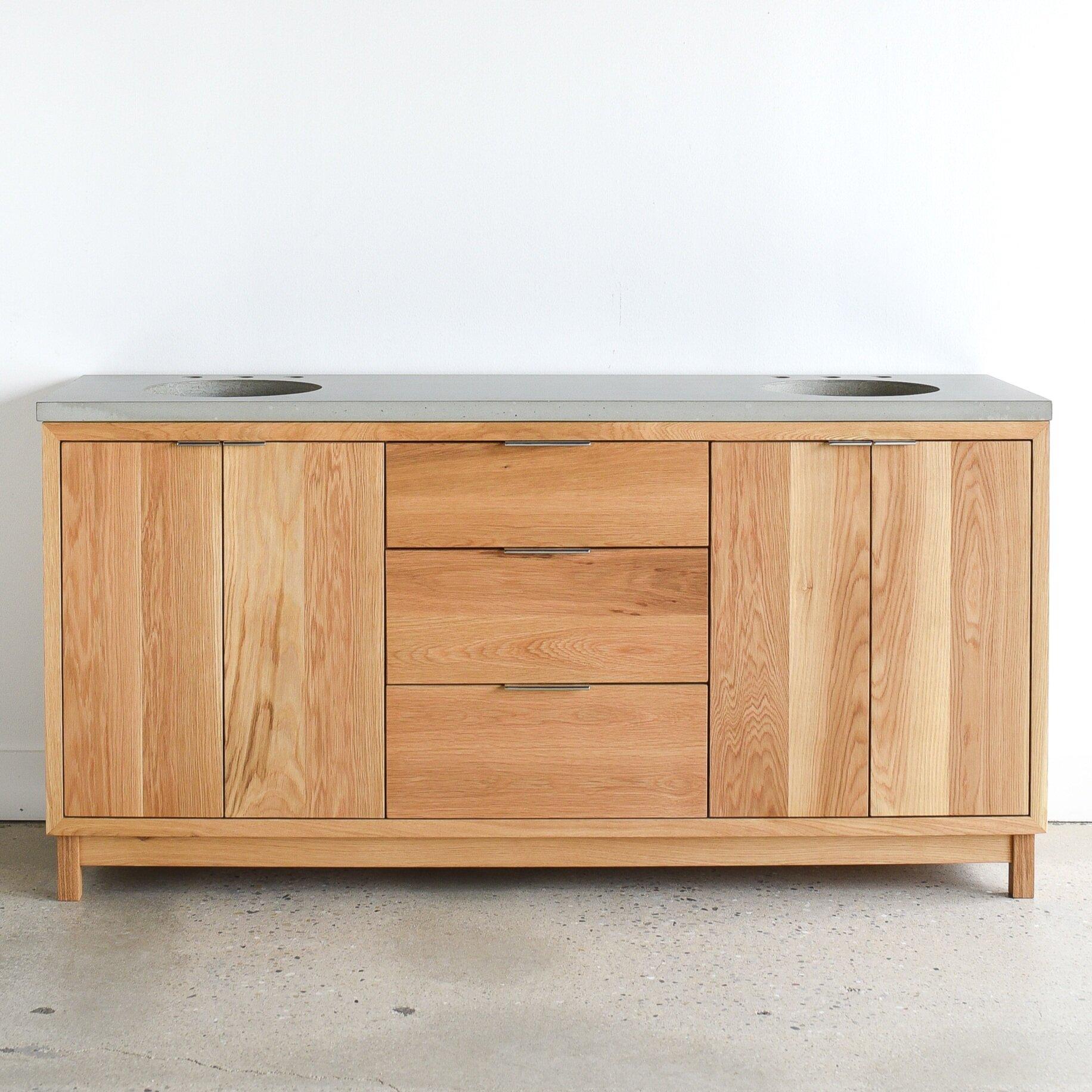72 modern double sink wood vanity what we make