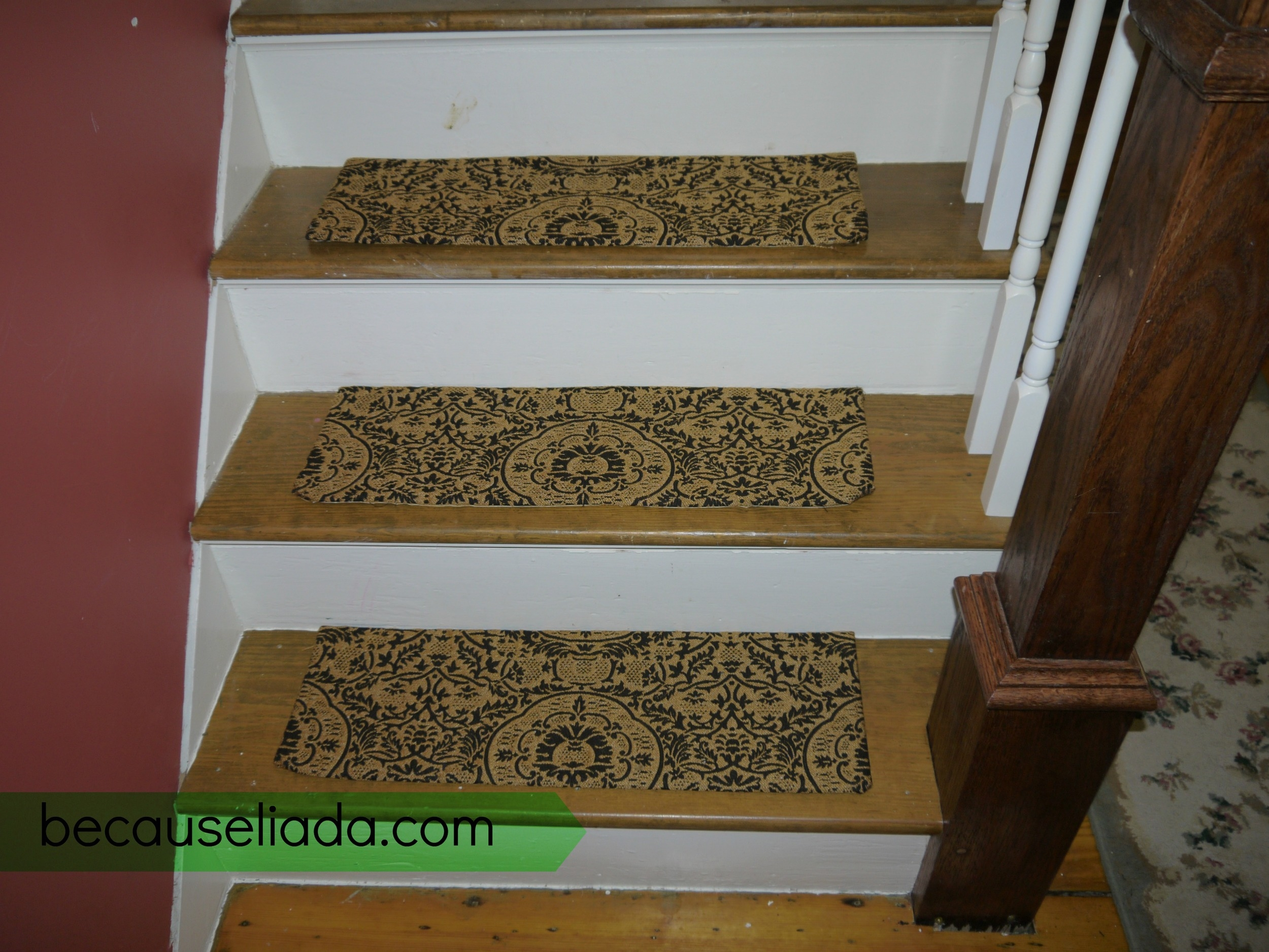 Make Your Own Carpet Stair Treads — Because L I A D A   Putting Carpet On Stairs   Design   Wear And Tear   Commercial   Stair Turned   Step