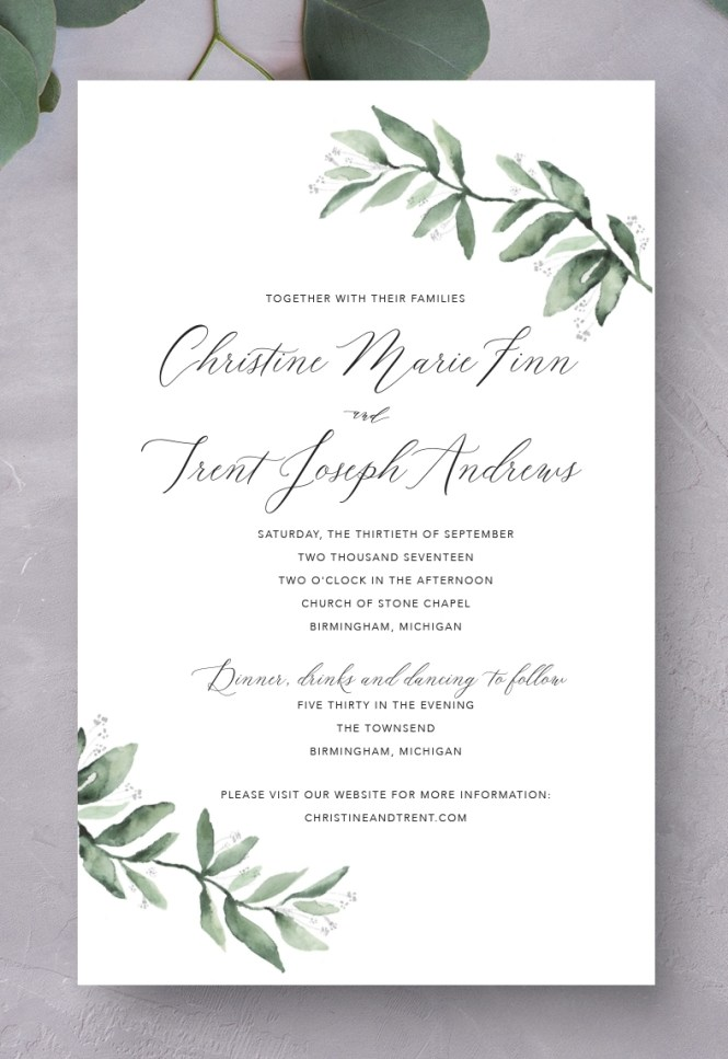 Graphic Design Wedding Invitations
