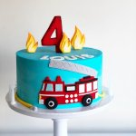 Louis Fire Truck Cake Burnt Butter Cakes