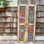 Repurposed Vintage Indian Teak Shutters Romy Clare