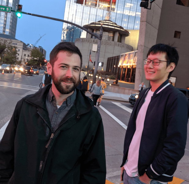 That's our lead designer, James (out on the town in Nashville with one of our talented developers, Jingwei).
