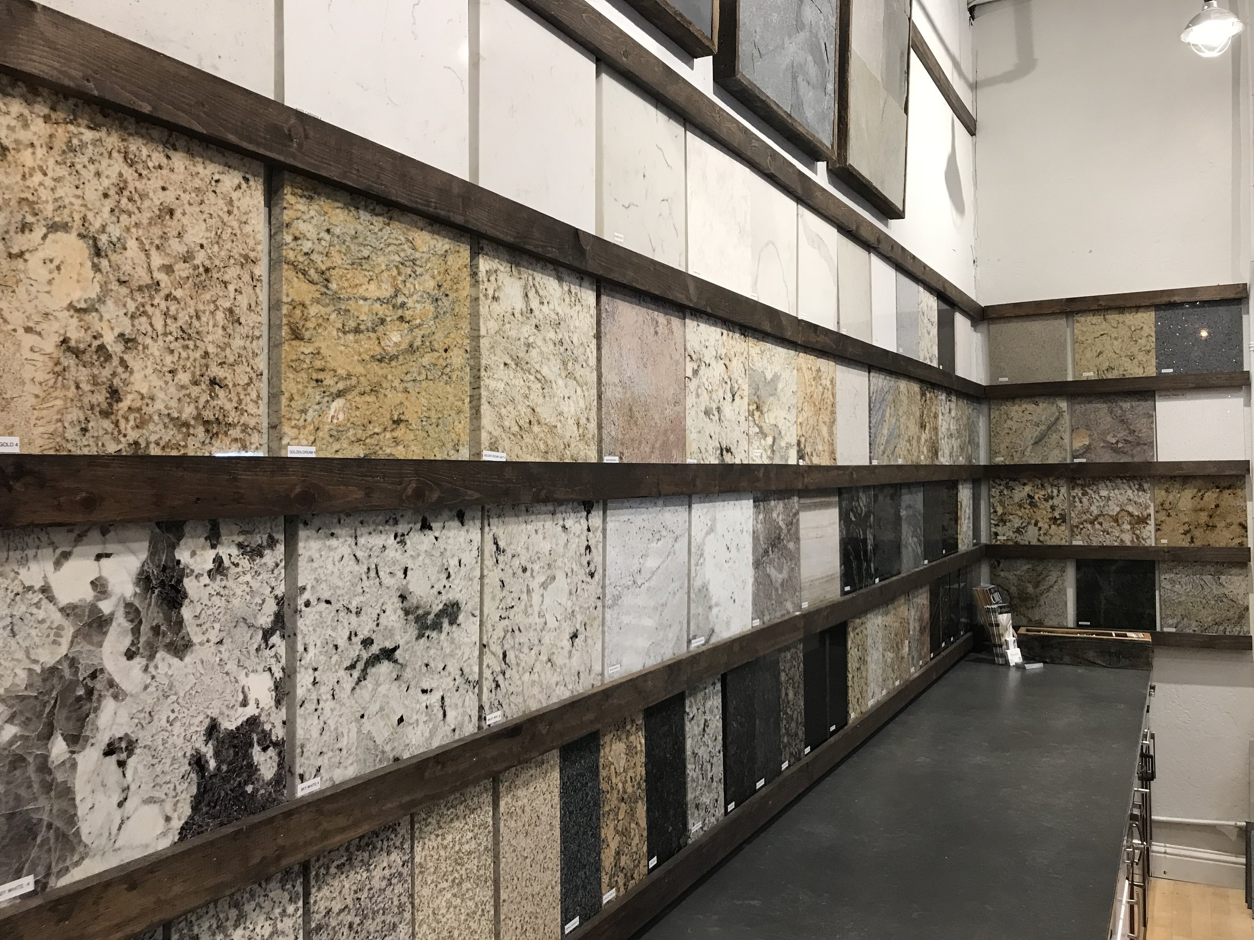 two stone cabinets