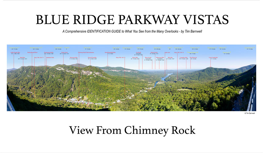 blue ridge parkway vistas great smoky mountains nnational park vistas book signings for saleview from chimney rock poster tim barnwell photography