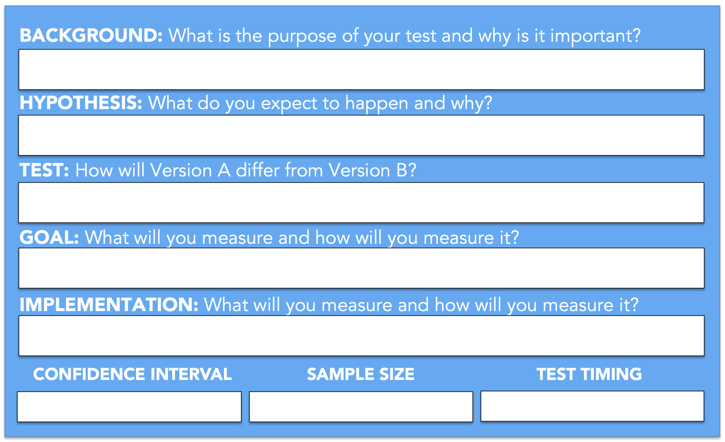 14/09/2018· 3 of the best a/b testing examples to inspire you (case studies) now, it's time for the proof. A B Testing Template Kickframe Digital Strategy Consulting And Training Services