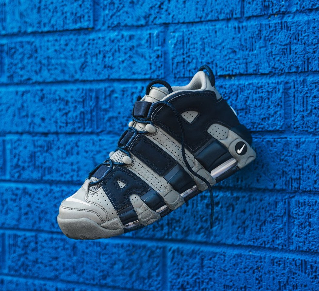 """On Sale: Nike Air More Uptempo '96 """"Hoyas"""" — Sneaker Shouts"""