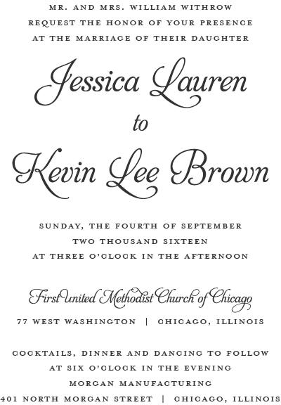 How Do I Word My Wedding Invitations