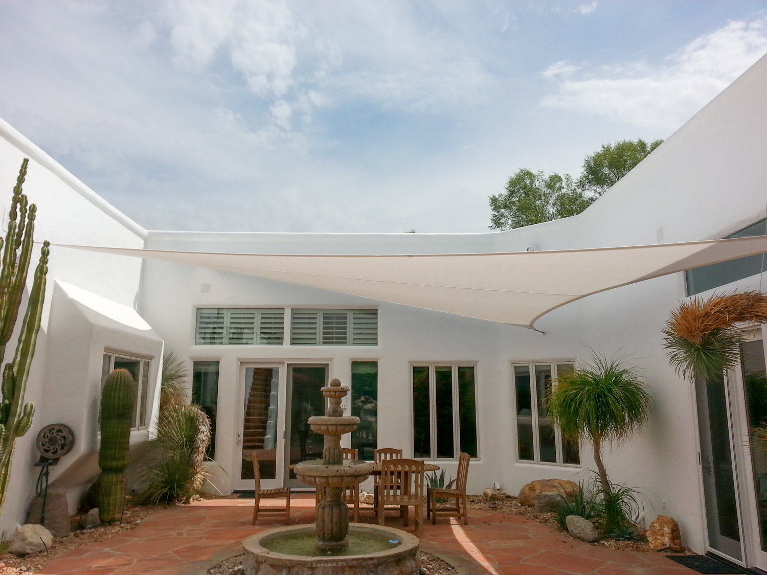 shade sails custom tension structures