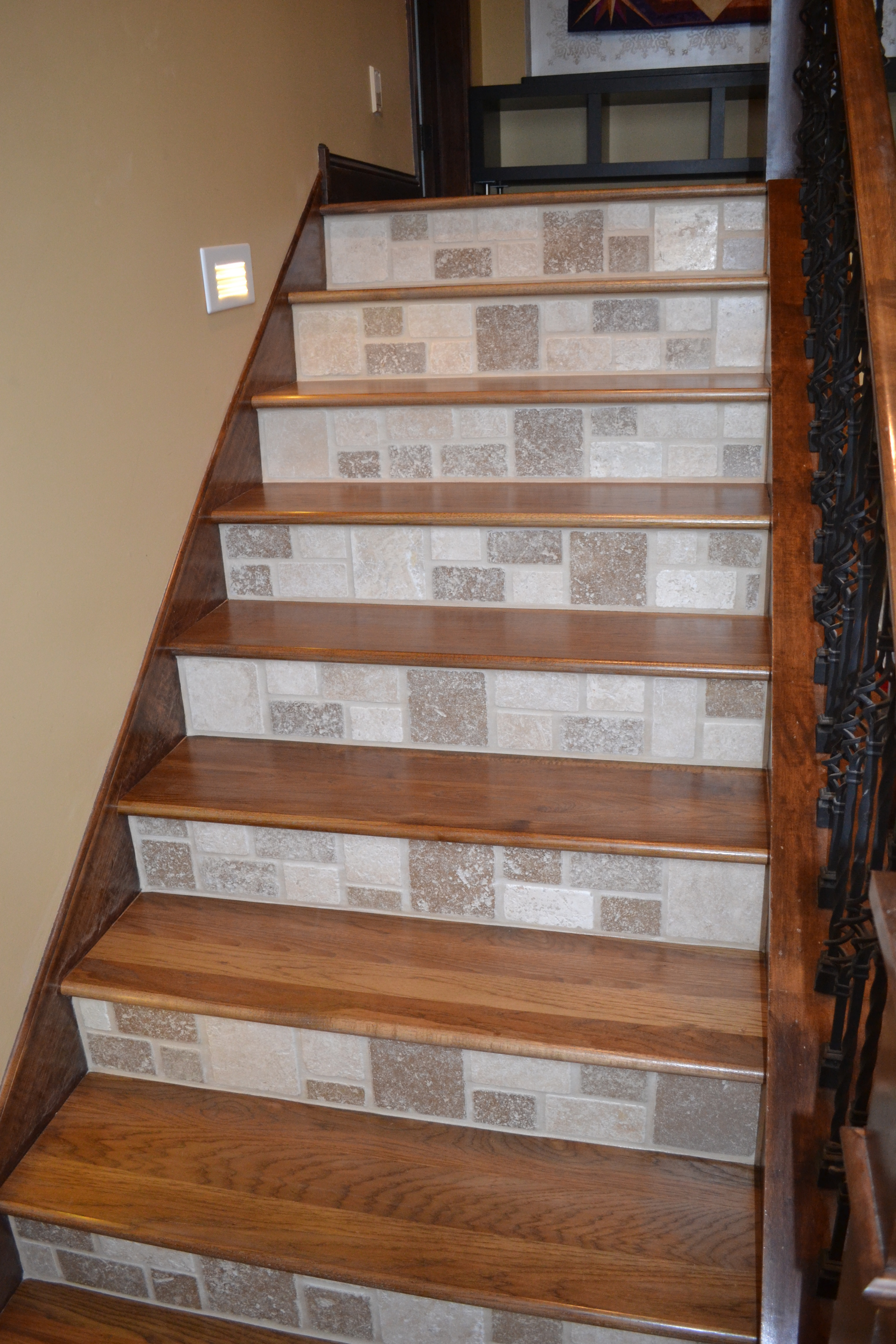 wood staircase installation gallery