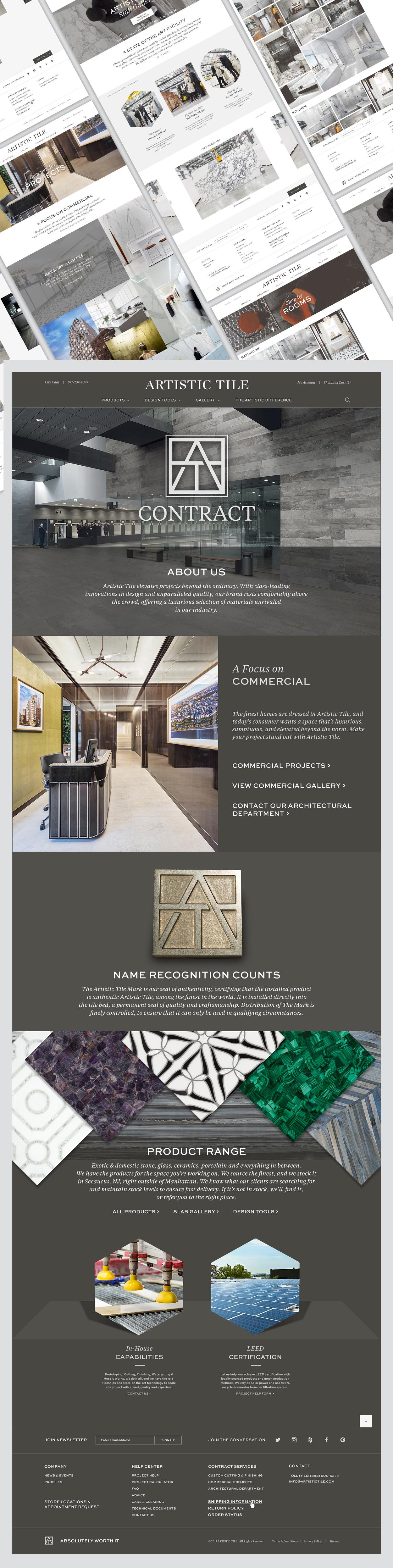 web design artistic tile portfolio
