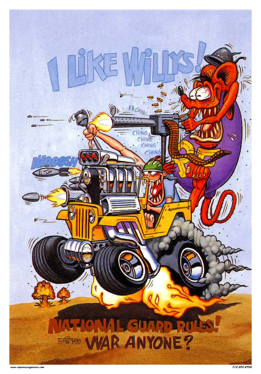 rat fink jeep vintage reproduction racing posters